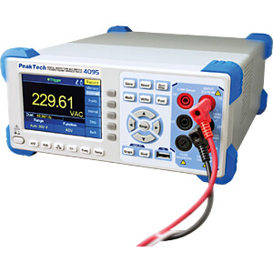 Tischmultimeter, digital, 60000 Counts, USB, LAN PEAKTECH P 4095