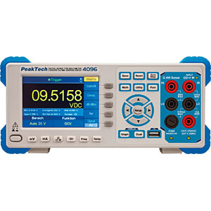 Tischmultimeter, digital, 200000 Counts, USB, LAN PEAKTECH P 4096