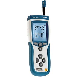 3-in-1 K-type & IR temperature and relative humidity meter, USB PEAKTECH P 5040