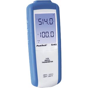PeakTech 5140 digital thermometer 2-channel PEAKTECH P5140