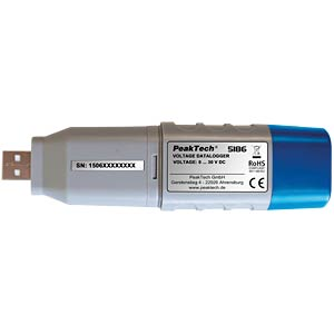 USB voltage data logger, 0 - 30 V DC PEAKTECH P 5186