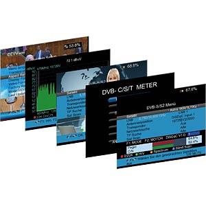 Signalpegelmessgerät, DVB-S, DVB-S2, DVB-T, DVB-T2, DVB-C PEAKTECH P 9020