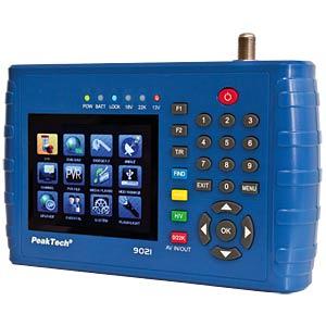 Signalpegelmessgerät, DVB-S, DVB-2S, Kfz-Adapter PEAKTECH P 9021