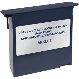 Battery pack for PeakTech oscilloscope PEAKTECH AKKU 3