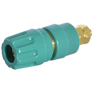 4-mm pole terminal, gold-plated, green HIRSCHMANN TEST & MEASUREMENT 930103704