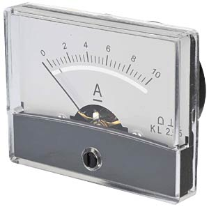 Moving coil meter, 10 A, W: 60 mm, H: 47 mm FREI