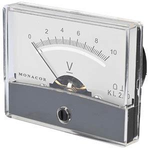 Drehspul-Messwerk 10V, B: 60mm, H: 47mm FREI