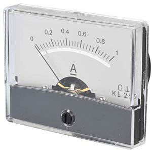 Moving coil meter, 1.0 A, W: 60 mm, H: 47 mm FREI