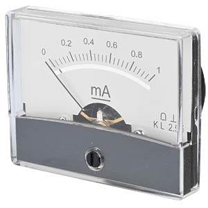 Drehspul-Messwerk, 1 mA, 60x70 mm FREI