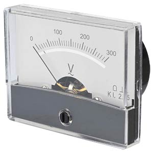 Moving coil meter, 300 V AC, W: 60 mm, H: 47 mm FREI