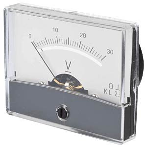 Moving coil meter, 30 V, W: 60 mm, H: 47 mm FREI