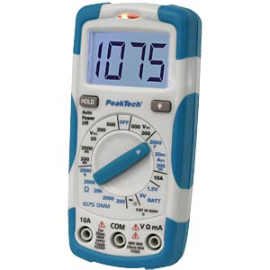 Digital multimeter, 3½ -digit, voltage detector PEAKTECH P 1075