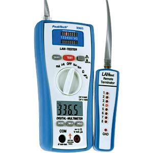 2-in-1 LAN tester with digital multimeter PEAKTECH P 3365