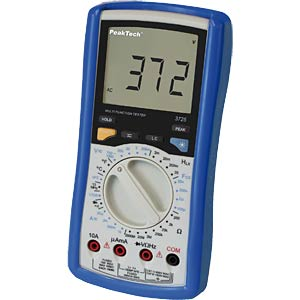 Multimeter, digital, 1999 Counts, Transistortest PEAKTECH 3725