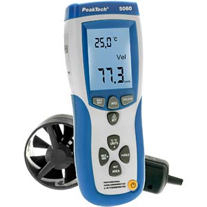 Prof. vane anemometer and IR thermometer PEAKTECH P 5060