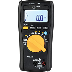 Multimeter, digital, 6000 Counts, 1000 V AC/DC RND LAB RND 355-00003