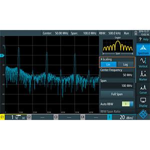 Erweiterung für RTH-Serie, Spektrumanalysefunktion ROHDE & SCHWARZ 1333.0680.03