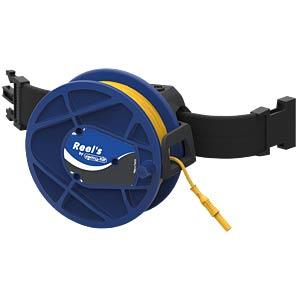 Kabeltrommel, blau, 50 m, mit Umhängegurt ELECTRO PJP STB-REEL2310-50-6