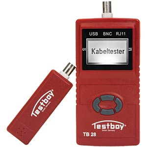 Netzwerktester 28, für USB-, RJ11- und BNC-Leitungen TESTBOY TB28