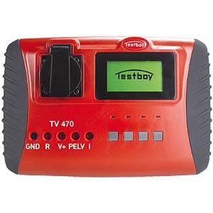 Gerätetester nach DIN VDE 0701-0702-0751 TESTBOY TV 470
