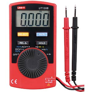 Multimeter, digital, 4000 Counts, Mini UNI-TREND UT120B