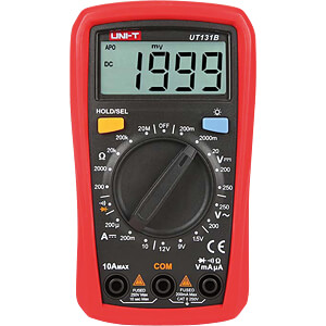 Multimeter, digital, 2000 Counts, Palm size UNI-TREND UT131B