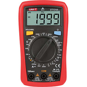 Multimeter, digital, 2000 Counts, Palm size UNI-TREND UT131D