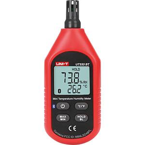 Feuchtigkeitsmessgerät für Luftfeuchte, Bluetooth UNI-TREND UT333BT