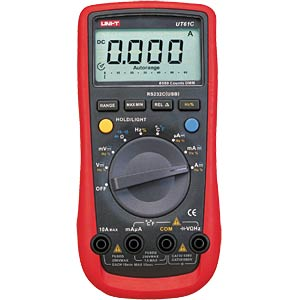 Multimeter, digital, 6000 Counts, Temperaturmessung UNI-TREND UT61C