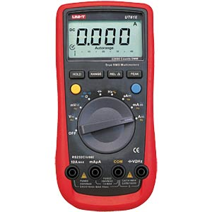 UNI-T TRMS digital multimeter 22000 counts, USB UNI-TREND UT61E