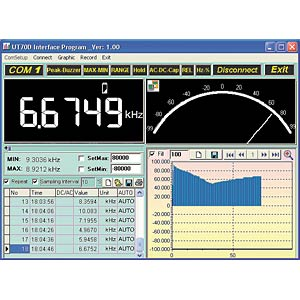 UNI-T Digitalmultimeter 6000 Counts, USB UNI-TREND UT61C