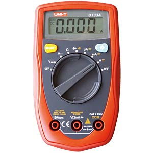 Multimeter, digital, 4000 Counts, AC/DC UNI-TREND UT33A