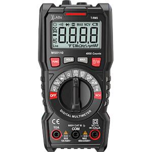 VA-LABs TrueRMS Digital Multimeter, 4000 Counts, 600 V, 10 A, NC VA-LABS MS0110