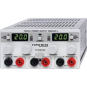 Triple power supply unit HAMEG HM 8040-3