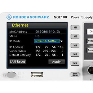 Labornetzgerät-Erweiterung für NGE100-Serie, Ethernet ROHDE & SCHWARZ 5601.2204.03
