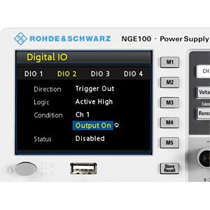 Labornetzgerät-Erweiterung für NGE100-Serie, I/O Ports ROHDE & SCHWARZ 5601.2227.03