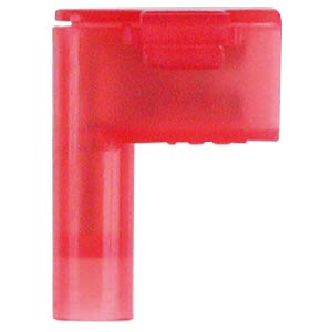 Winkel Flachsteckhülsen - 4,8x0,8, 0,5 … 1,5 mm², rot, easy crim WE EISENACHER F6131488