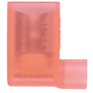 Winkel Flachsteckhülsen - 6,3x0,8, 0,5 … 1,5 mm², rot WE EISENACHER F613638