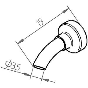 Heißluftdüse 0472ER, 3,5 mm, gerade ERSA 0472ER/SB