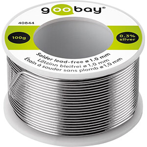 Solder lead-free; ø 1.0 mm, 100 g GOOBAY 40844
