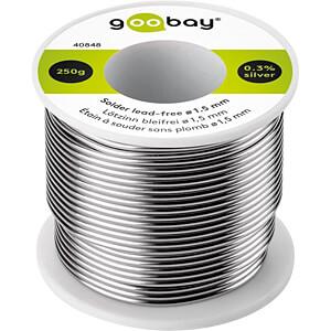 Lötzinn bleifrei mit Silber- und Kupferanteil,Ø 1,5 mm, 250 g GOOBAY 40848