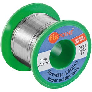 Soldering wire, lead free, 100-g reel, 0.35 mm, Sn95.8 FIXPOINT 51131