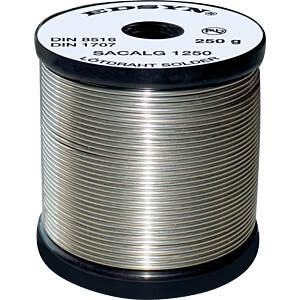 Lötzinn bleifrei mit Silber- und Kupferanteil,Ø 1,5 mm, 250 g EDSYN SAC ALG 15250