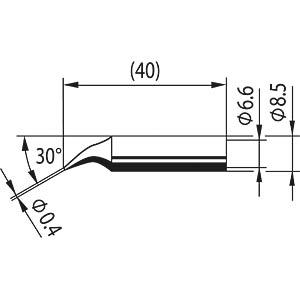 Spitze, bleistiftspitz, Ersadur, 0,4mm ERSA 0842ID
