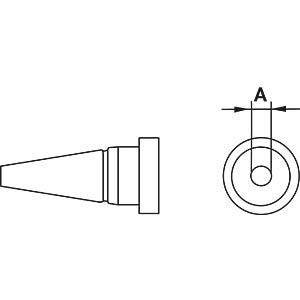 Weller Lötspitze LT 1,  0,25mm, Rundform WELLER T0054443599