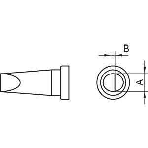 Weller soldeerpunt LHT A, 1,6mm mm, beitelvorm WELLER T0054444099