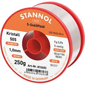 Soldeertin loodhoudend, Ø 1,0 mm, 250 g STANNOL 11812