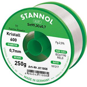 Lötzinn bleifrei mit Kupferanteil,Ø 0,7 mm, 250 g STANNOL 61234