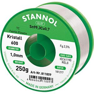Lötzinn bleifrei mit Kupferanteil,Ø 1,0 mm, 250 g STANNOL 61235