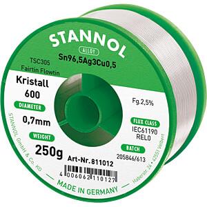 Soldeertin loodvrij met zilver- en koperaandeel,Ø 0,7 mm, 250 g STANNOL 61231